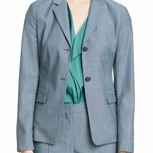 Hugo BOSS Jomana Minidessin Wool Jacket Green Sz 6